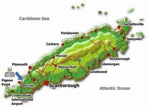 De boot in Charlotteville, met de bus naar Scarborough
