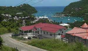 Marigot Bay ingenomen door de commercie